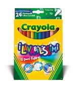 Cartoleria 24 Pennarelli Punta Fine Ultra Lavabili Crayola