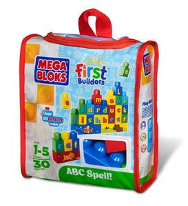 Mega Bloks. First Builders. Sacca Costruisci e Impara 30 Pz. L'Alfabeto - 2