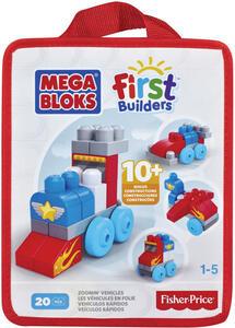 Mega Bloks. First Builders. Sacca Costruisci E Impara. Veicoli - 2