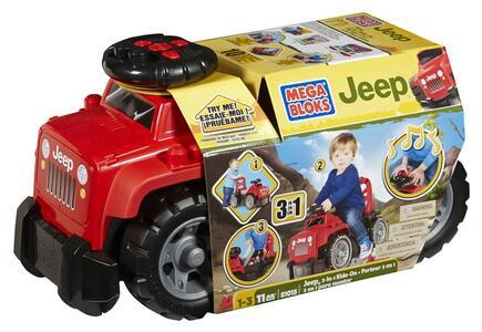 Mega Bloks. Ride On's. Jeep 3-in-1 Rossa