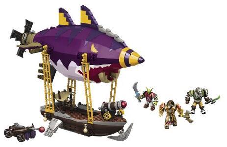 Mega Bloks 91014 World of Warcraft Zepplin Goblin 310 Pezzi - 4