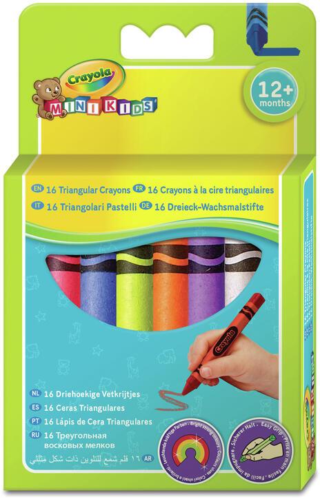 Crayola Mini Kids. 16 Triangular Crayons 16 pezzo(i)