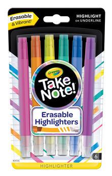 Crayola 58-6504. Take Note! 6 Evidenziatori Cancellabili