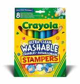 Cartoleria 8 Stampini Ultra-Lavabili Crayola