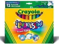 Cartoleria 12 Pennarelli Punta Maxi Ultra Lavabili Crayola
