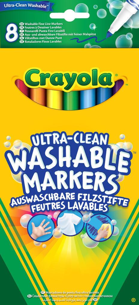 Crayola 8 Ultra Clean Fineline Washable Markers marcatore Multi 8 pezzo(i) - 2