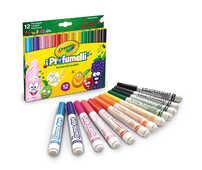 Cartoleria I Profumelli. 12 Pennarelli Punta Maxi Lavabili Profumati Crayola