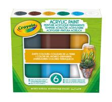 6 Tempere Acriliche. Colori Della Terra. Crayola (54-4411)