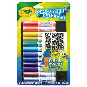 Giocattolo Pennarelli & Stencil Set. Boy Crayola 0