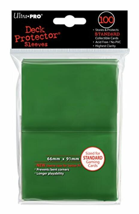 Ultra Pro Proteggi Carte Standard Pacchetto Da 100 Bustine 66Mm X 91Mm Green 30 60 - 2