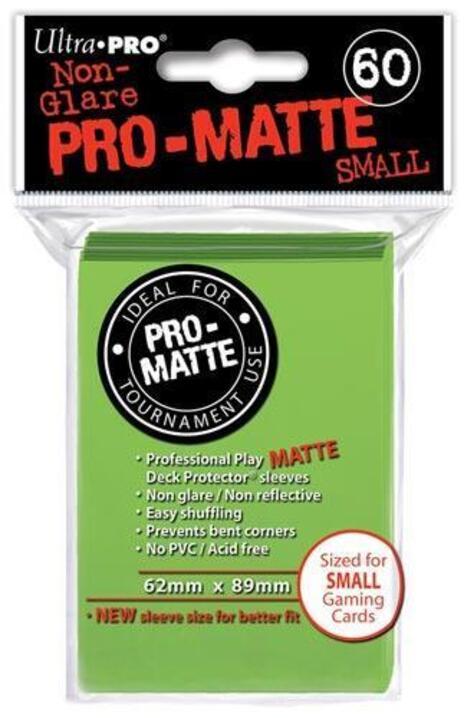 Ultra Pro Proteggi Carte Mini Pacchetto Da 60 Bustine 62Mm X 89Mm Pro-Matte Non-Glare Lime Green 10/100 - 5