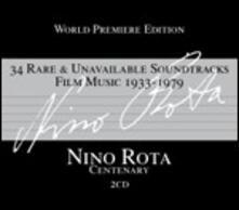 34 Rare & Unavailable Soundtracks Film Music (Colonna Sonora) - CD Audio di Nino Rota