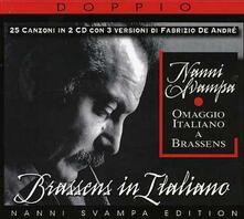 Brassens in Italiano - CD Audio di Nanni Svampa