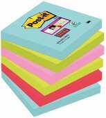Cartoleria 3M Post-it. Foglietti Post-It Super Sticky Miami. Confezione Da 12 Blocchetti Senza Film Singolo Da 90 Fogli Post-it