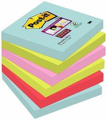 3M Post-it. Foglietti Post-It Super Sticky Miami. Confezione Da 6 Blocchetti Con Film Singolo Da 90 Fogli