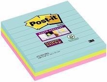 3M Post-it. Foglietti Post-It Super Sticky Grandi Formati. Confezione Da 3 Blocchetti Senza Film Singolo Da 70 Fogli