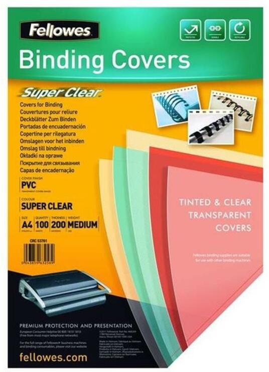 Fellowes 5376001 cartellina A4 PVC Trasparente 100 pezzo(i)