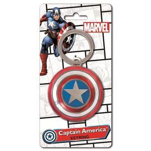 Portachiavi Capitan America. Shield Colour in Peltro