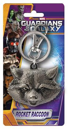 Portachiavi Guardians of the Galaxy. Rocket Raccoon in Peltro