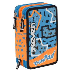 Cartoleria Astuccio attrezzato Pen Pad Boy Seven Fluo Orange. Blu-Arancione Seven
