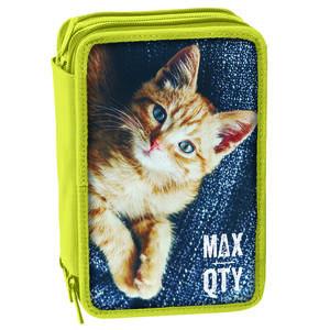 Astuccio attrezzato 3 zip Seven MAX QTY Animals. Gatto