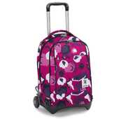 Cartoleria Zaino Trolley Invicta Girl Abstract. Fucsia Invicta