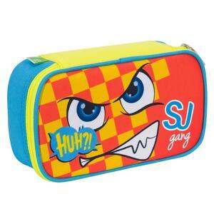 Astuccio busta attrezzata Quick Case Seven Boy SJ Gang Facce da SJ. Arancione-Azzurro