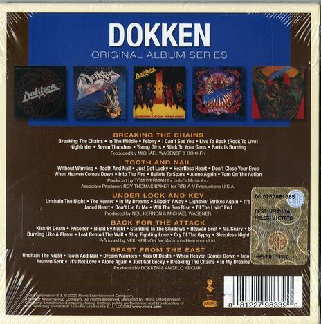 Original Album Series - CD Audio di Dokken - 2