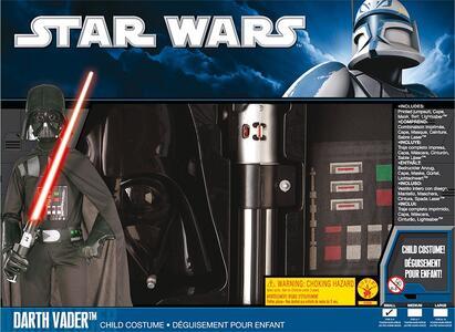 Kit Costume Darth Vader Star Wars Originale Bambino Small 3 - 4 Anni 116 cm - 13