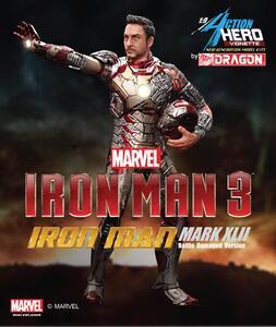 Action Hero Vignette. Iron Man 3 Mark XLII (Battle Damaged Version) (DR38118) - 2