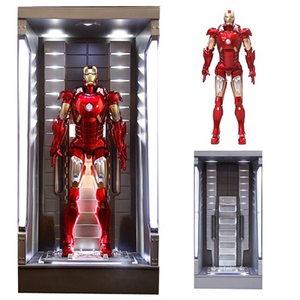 Giocattolo Action Hero Vignette. Iron Man 3. Hall of Armor Mk.VII Multi-Poseable include base illuminata a led (DR38126) Dragon 1