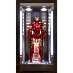Giocattolo Action Hero Vignette. Iron Man 3. Hall of Armor Mk.VII Multi-Poseable include base illuminata a led (DR38126) Dragon 2