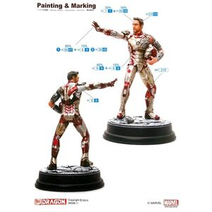 Giocattolo Model Kit. Iron Man 3. Mark XLII (Battle Damaged Version) (DR38328) Dragon 1
