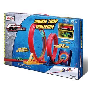 Maisto. Fresh Metal. Pista Lanciatore Double Loop Challenge Con 2 Veicoli - 2