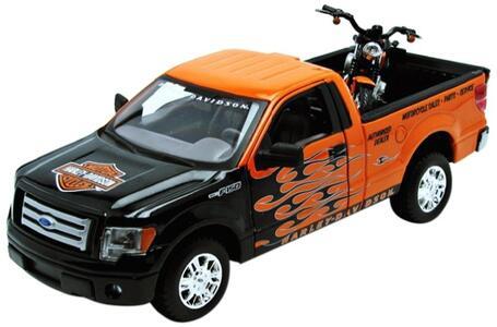 Maisto. Harley Davidson. 2007 Xl 1200N Nightster + Ford F150 Stx