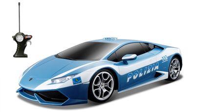 Giocattolo Maisto. Tech. Lamborghini Huracan Polizia Radiocomando 1:14 Maisto