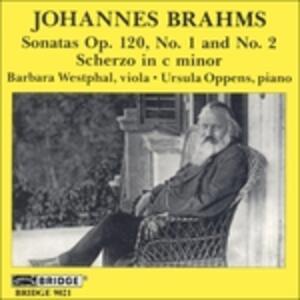 Sonate n.1 & 2 - CD Audio di Johannes Brahms