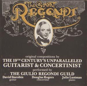 Great Regondi - CD Audio di Giulio Regondi