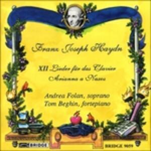 12 Songs for Piano - CD Audio di Franz Joseph Haydn