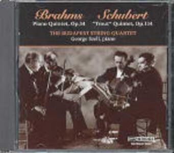 """Quintetto con pianoforte op.34 / Quintetto con pianoforte """"La trota"""" - CD Audio di Johannes Brahms,Franz Schubert,George Szell,Budapest String Quartet"""