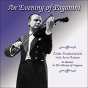An Evening of Paganini - CD Audio di Niccolò Paganini