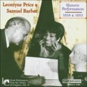 Historic Performances 193 - CD Audio di Samuel Barber
