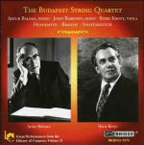 Great Performances from The Library of Congress volume 21 - CD Audio di Johannes Brahms,Paul Hindemith,Dmitri Shostakovich