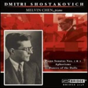 Sonate per pianoforte n.1, n.2 - Aforismi - CD Audio di Dmitri Shostakovich