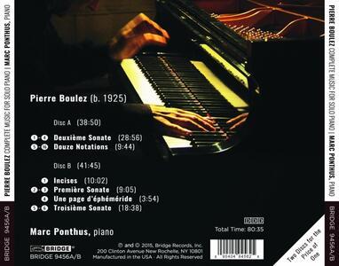 Complete Music For Solo Piano - CD Audio di Pierre Boulez - 2