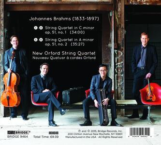 String Quartets Op.51 No. - CD Audio di Johannes Brahms - 2