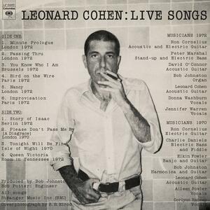 Live Songs - Vinile LP di Leonard Cohen