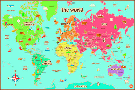 Idee regalo World Kids Map Pusher