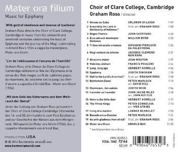 Mater Ora Filium. Musica per l'Epifania - CD Audio - 2