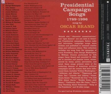 Presidential Campaign Songs 1789-1996 - CD Audio di Oscar Brand - 2